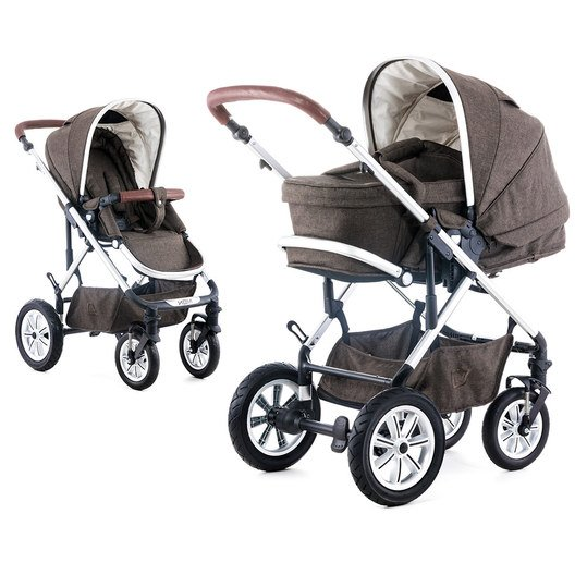 Kombi-Kinderwagen Lusso - Dark Brown Melange