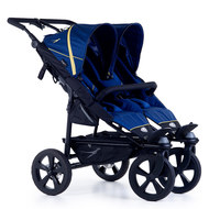 Geschwister- & Zwillingskinderwagen Twin Trail 2 - Twilight Blue