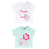 T-Shirt 2er Pack - Lovely Bug Weiß Mint