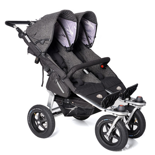 Geschwisterwagen Twin Adventure Premium - Anthrazit