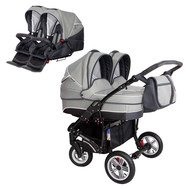 Geschwisterwagen Sport Duo new Line - Light Grey