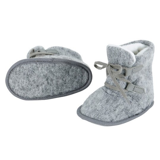 Boots Wolle - Grau - Gr. 18