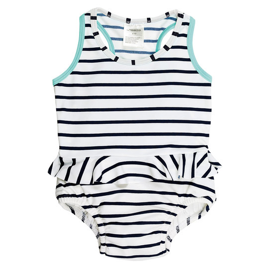Badeanzug - Sailor Navy - Gr. 0 - 6 M