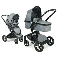 Kombi-Kinderwagen Platino - Jeans Grau