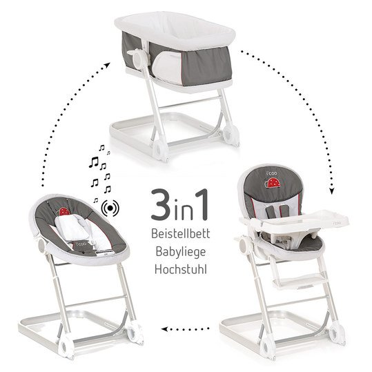 High chair, baby couch and extra bed Grow With Me 1-2-3 - bow