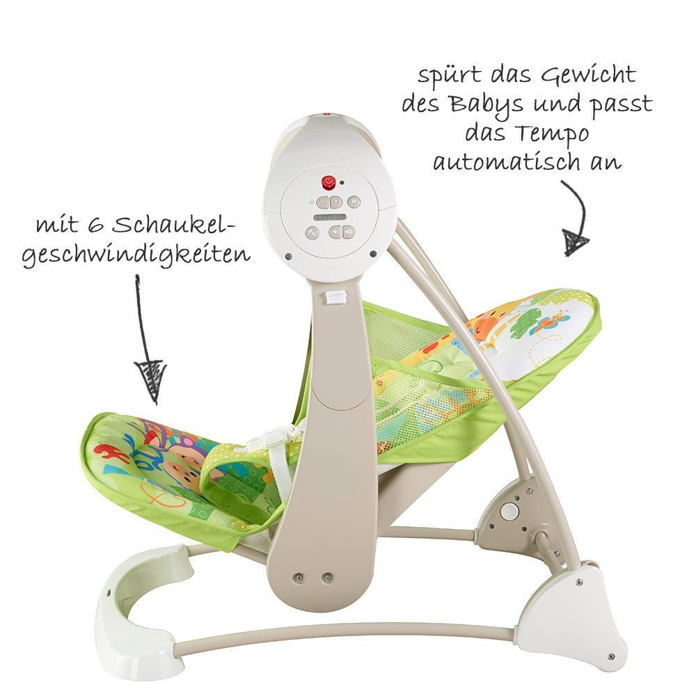 Fisher-Price - Babyschaukel 2 in 1 Kompakt - Rainforest - Babyartikel.de