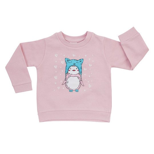 Sweatshirt Basic Line Girls - Rosa - Gr. 62