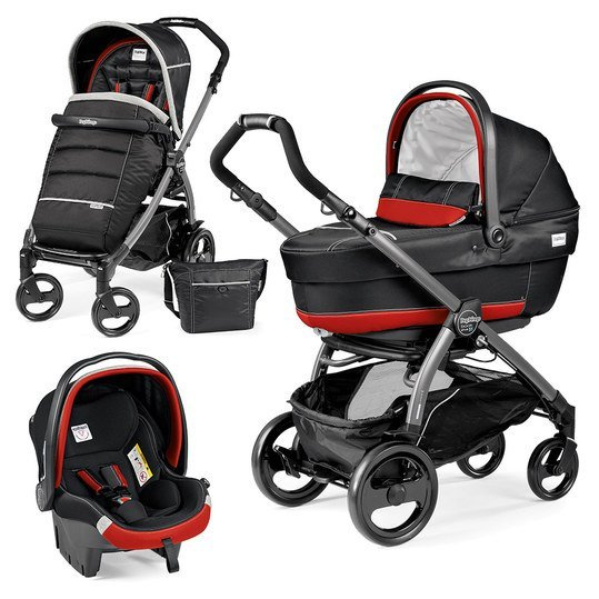 Kinderwagen-Set Book Plus 51 XL Completo Modular Gestell Jet / Anthrazit - Synergy