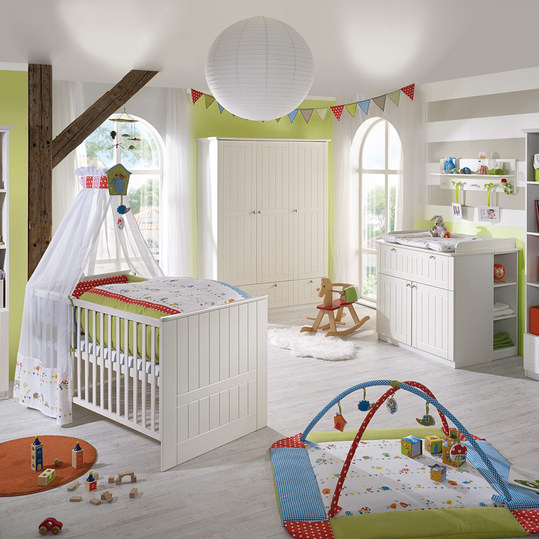 roba kinderzimmer dreamworld 3 mit 3 t rigem schrank bett wickelkommode. Black Bedroom Furniture Sets. Home Design Ideas