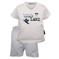 2-tlg. Set T-Shirt + Shorts - Captain Navy Weiß