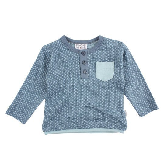 Langarmshirt Billy - Blau - Gr. 62