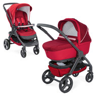 Kombi-Kinderwagen Duo Stylego Up Crossover - Red Passion