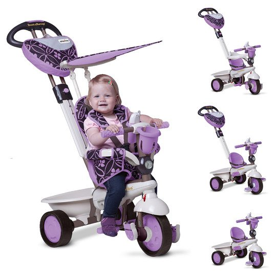 Dreirad Dream 4 in 1 mit Touch Steering - Purple