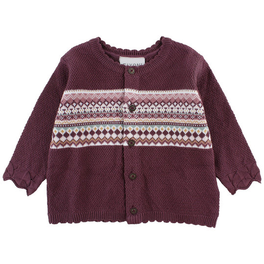 Strickjacke Hush - Bordeaux - Gr. 56