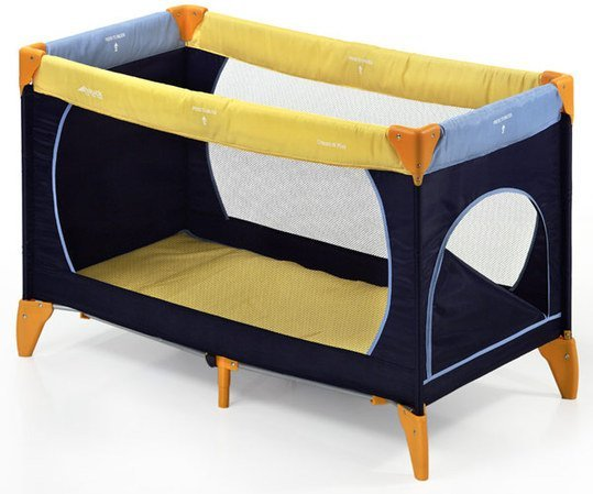 Reisebett Dream´n Play Plus - Yellow Blue Navy