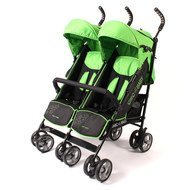 Geschwisterbuggy Momo - Green Stars