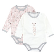 Body 2er Pack Langarm - Future Rosa - Gr. 62