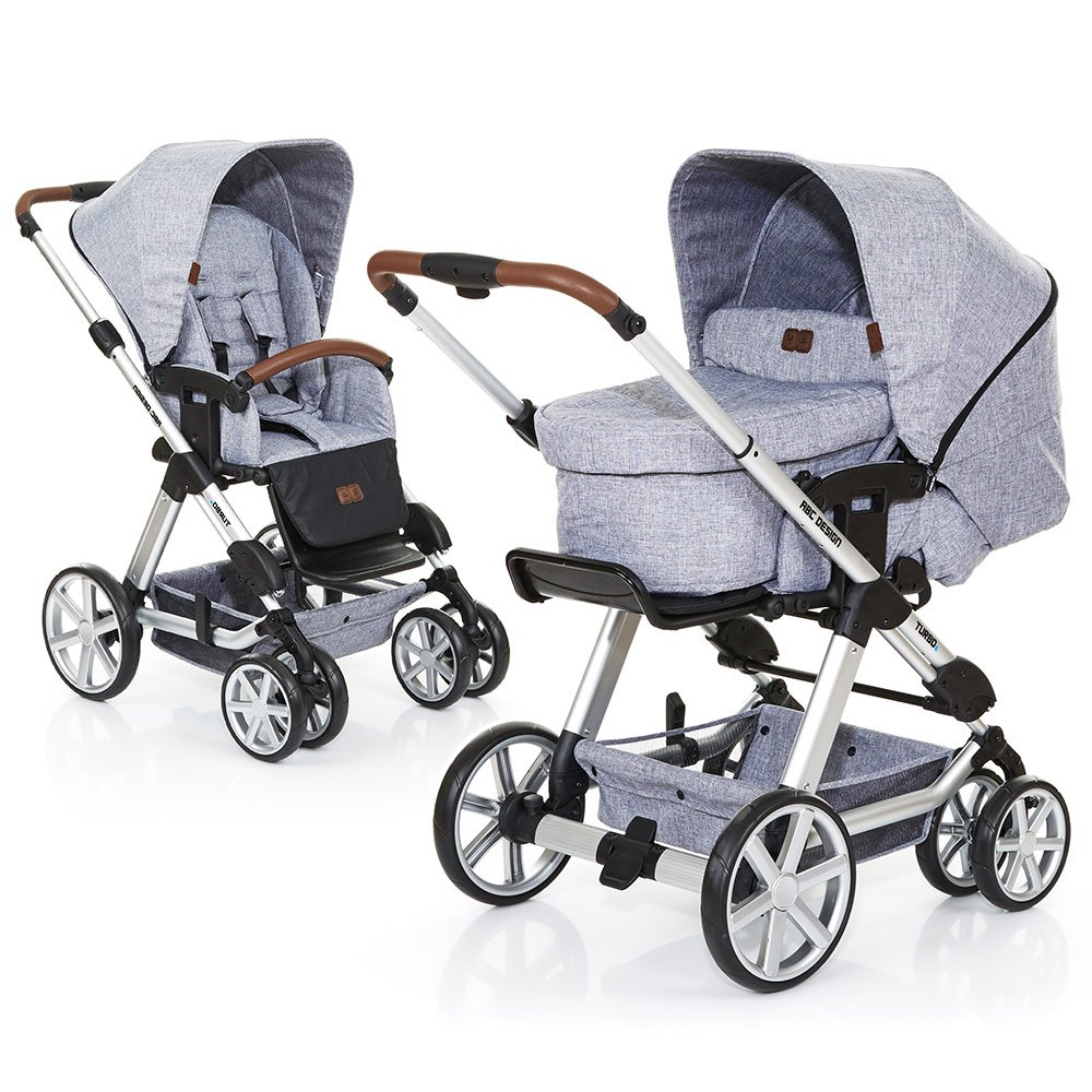 ABC Design Kombi-Kinderwagen Turbo 6 - Graphite Grey 61290 701