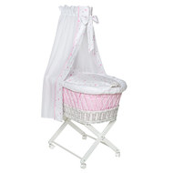 bassinet Babsi White - Heart - Pink