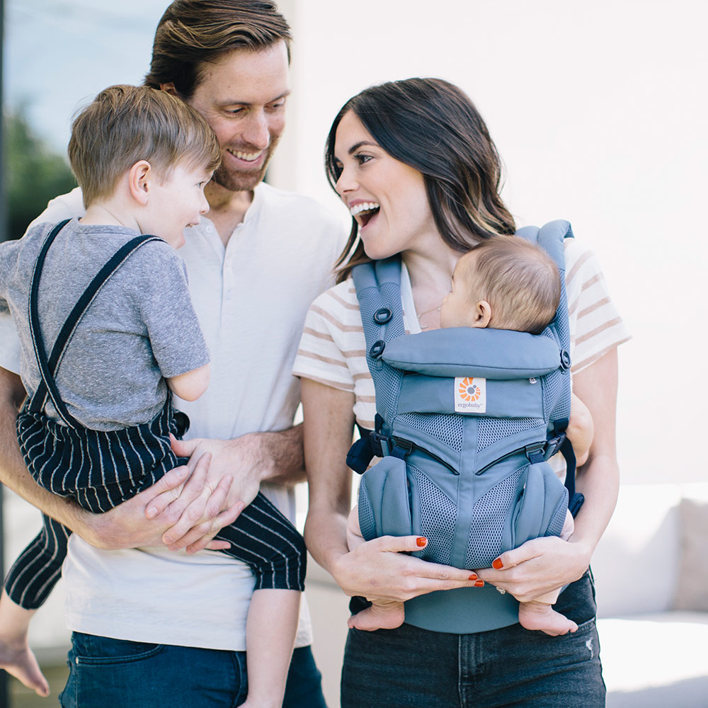 Ergobaby 360 Omni Cool Air Mesh Baby Carrier For 4 Carrying Positions Oxford Blue