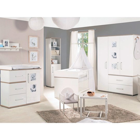 roba kinderzimmer pia mit 3 t rigem schrank bett breiter wickelkommode. Black Bedroom Furniture Sets. Home Design Ideas
