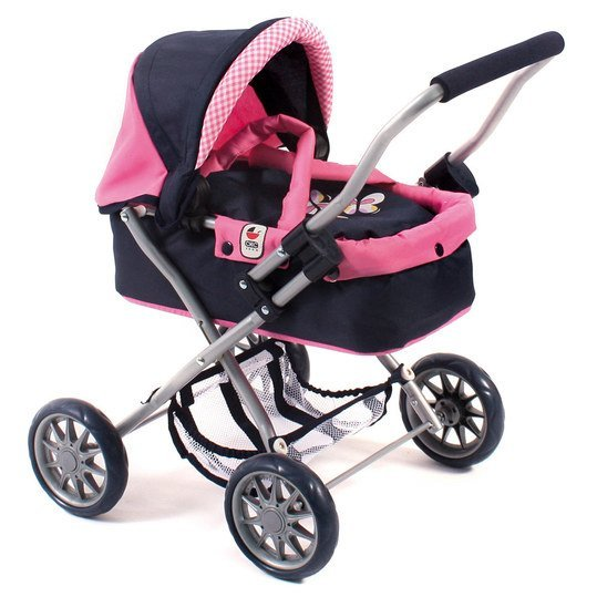 Puppenwagen Smarty - Pink Checker