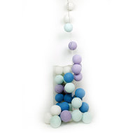 25er Cotton-Ball-Lichterkette - Baby Set