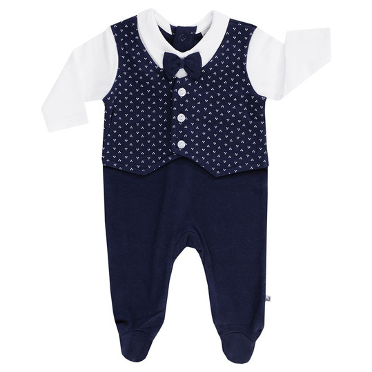 Overall Classic Weste - Navy Weiß - Gr. 62