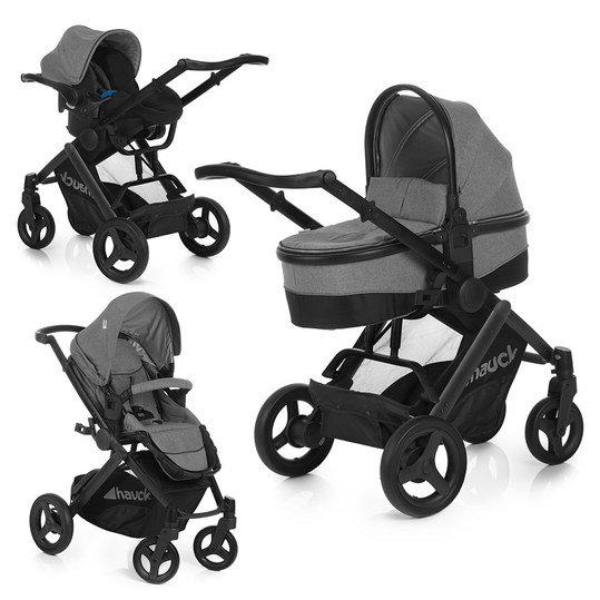 Kinderwagen-Set Maxan 4 Plus Trio Set - Melange Stone