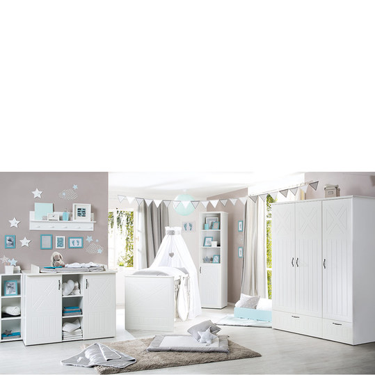 roba kinderzimmer constantin mit 3 t rigem schrank bett wickelkommode. Black Bedroom Furniture Sets. Home Design Ideas