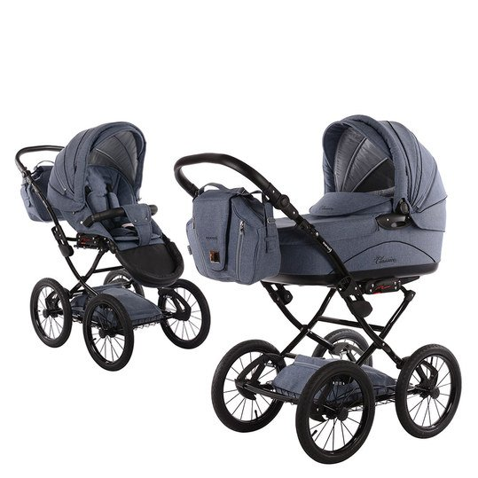 Kombi-Kinderwagen Classico Emotion - Light Blue