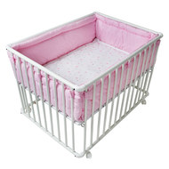 Playpen Basic White incl. insert 75 x 100 - Heart - Pink