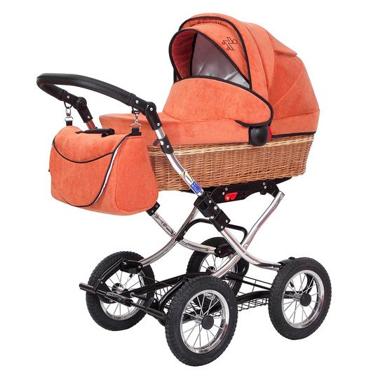 Erstlings-Kinderwagen Nature - Matrix Orange
