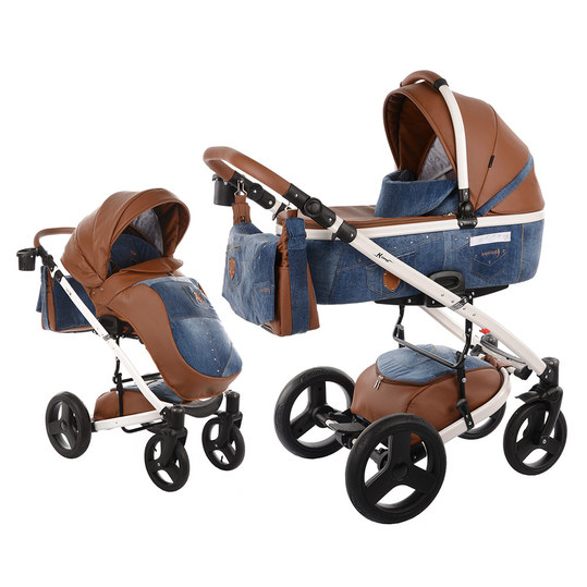Kombi-Kinderwagen K-One - Blue Jeans