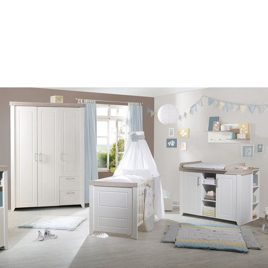 roba kinderzimmer felicia mit 3 t rigem schrank bett wickelkommode. Black Bedroom Furniture Sets. Home Design Ideas