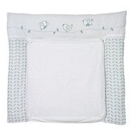 Wrap-around pad with terry cloth cover - Lovely Birds - Blue