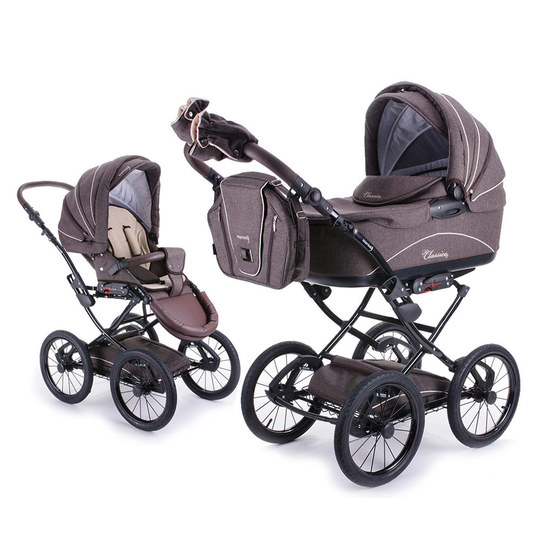 knorr baby classico braun kombi kinderwagen. Black Bedroom Furniture Sets. Home Design Ideas