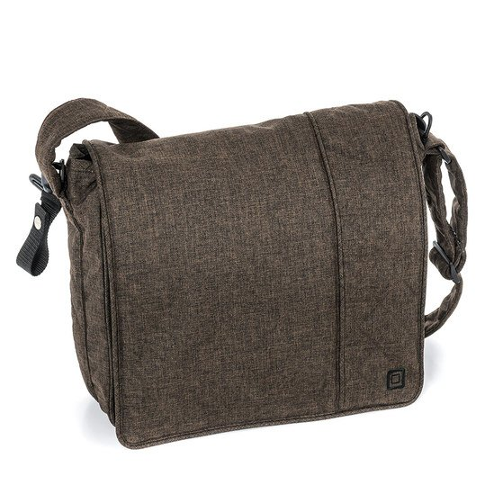 Wickeltasche City - Dark Brown Melange