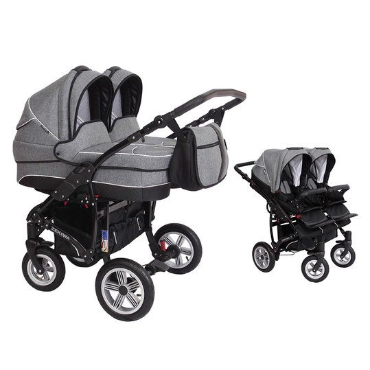 Geschwisterwagen Sport Duo new Line - Dark Grey