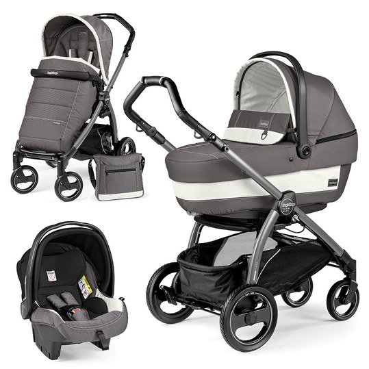 Kinderwagen-Set Book Plus S XL Completo Modular Gestell Jet / Anthrazit - Ascot