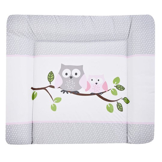 Foil changing mat Softy - Small owls pink