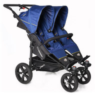 Geschwisterwagen Twin Trail - Twilight Blue