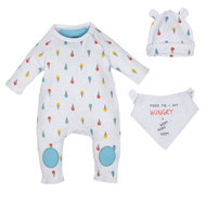 Newborn Set 3-tlg. Hungry - Grau - Gr. 0m