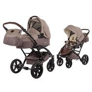Kombi-Kinderwagen Voletto Happy Colour - Beige Braun
