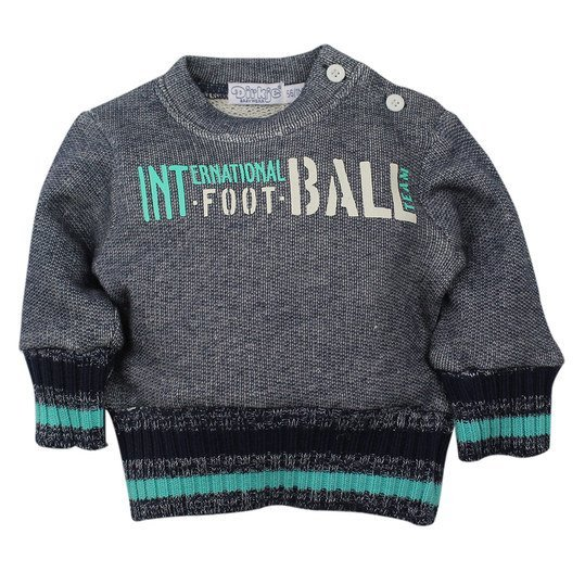 Sweatshirt Football - Navy Türkis - Gr. 56