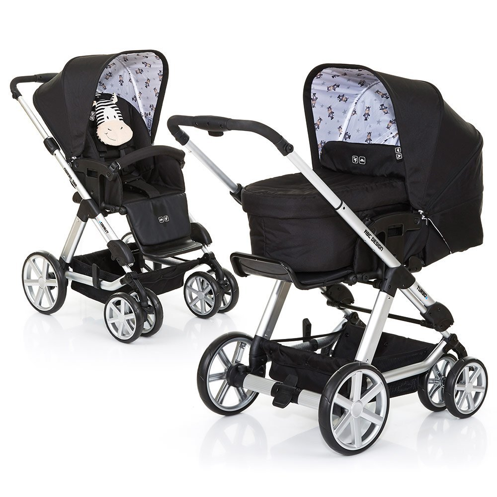 ABC Design Kombi-Kinderwagen Turbo 6 - Zebra 61290 707