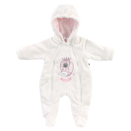 Kuscheloverall Princess Polly Gr. 68 - Offwhite-Rosa