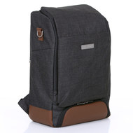 Wrap-around backpack Tour with large front compartment - incl. changing mat and accessories - Piano