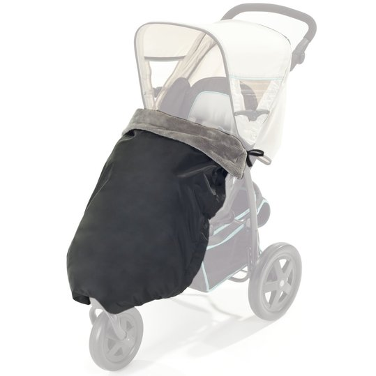 Universal Thermo Blanket for Stroller and Buggy - Black Grey