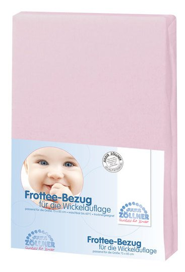 Terry cloth cover for changing mat - Pink